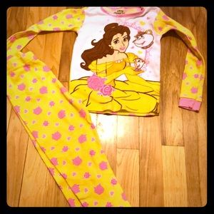 Pajamas size 6 belle beauty and the beast